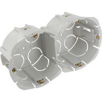 Blm - Boite double encastrée bibox entraxe 57mm diamètre 65-67mm profondeur 40mm a vis