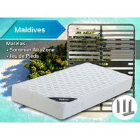Altobuy - Maldives - Pack Matelas + AltoZone 160x200 + Pieds