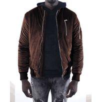 Project X - Bomber en Velours Homme Paris 88165514, Taille: S, Couleur: Marron