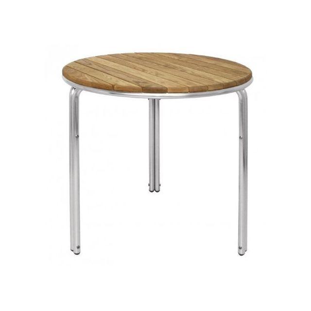 Materiel Chr Pro Table ronde en frêne et aluminium Bolero 600 mm - Bois clair