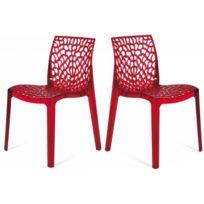 Chaise Plexiglas Rouge