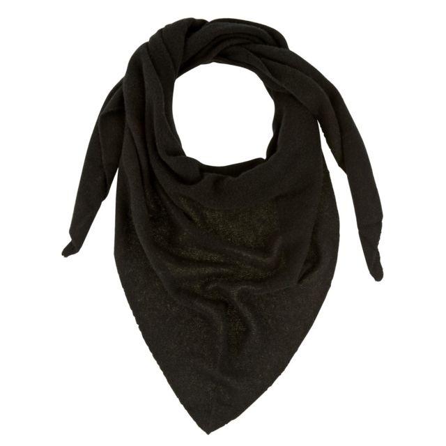 638dd62ba8ab7 Les Poulettes Bijoux - Echarpe 100% Cachemire 2 Fils Triangle Classics -  Noir