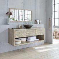 Meuble salle de bain bois - catalogue 2019 - [RueDuCommerce - Carrefour]