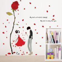 Quail   Stickers Mural Fleur Rose Romantique Décor