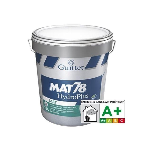 guittet peinture acrylique mat 78 hydroplus blanc 1l 2366 pas cher achat vente peinture. Black Bedroom Furniture Sets. Home Design Ideas