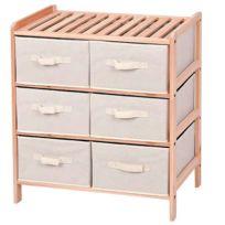 Provence Outillage - Étagère bois 3x2 tiroirs horizontal 70cm