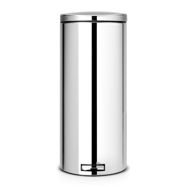 Brabantia Poubelle à pédale, 30 litres, MotionControl - Brilliant Steel