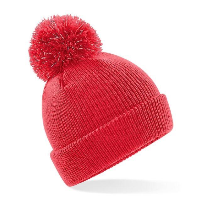 spécial chaussure paquet à la mode et attrayant nouveaux produits chauds Bonnet pompon enfant à fibres réfléchissantes - B406B - rouge