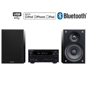 pioneer x hm51 k chaine hifi cd mp3 lecture ipod iphone ipad 2 x 50w bluetooth radio. Black Bedroom Furniture Sets. Home Design Ideas