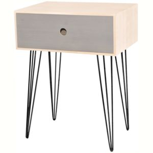 promobo table de chevet scandinave en bois uni d co cosy. Black Bedroom Furniture Sets. Home Design Ideas