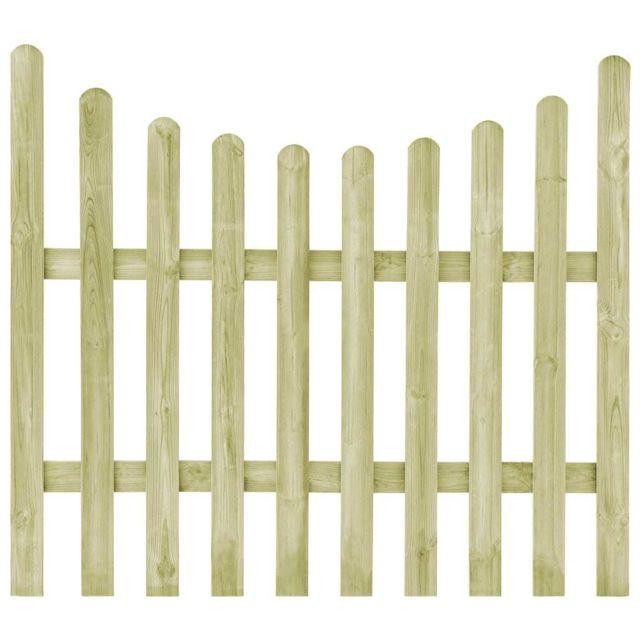 Portillon de jardin Pin imprégné Fsc 170 x 150 cm - Quincaillerie -  Clôtures et barrières - Portillons | Vert | Vert