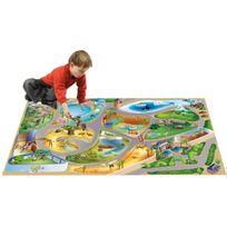 House Of Kids - Tapis enfant jeu circuit Connecte Zoo Tapis Enfants par
