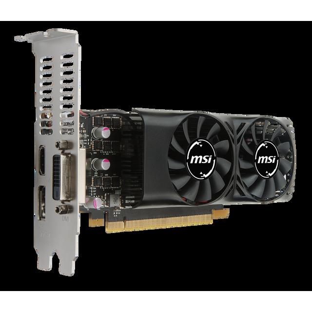 MSI GeForce GTX 1050 2GT LP Chaque joueur mérite la meilleure expérience de jeu, c'est pourquoi nous avons créé la carte graphique GeForce® GTX 1050, aussi puissante que rapide. Transformez votre PC en véritabl