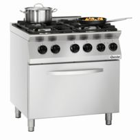 Bartscher - Cuisiniere 4 feux Mfg 7340 avec four electrique Gn 2/1