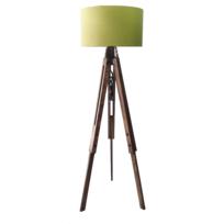 Homense - Lampadaire Tripode Massif Abat Jour Design Vintage Trepo Vert E27_40W