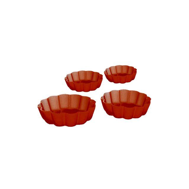 MAISON FUTEE Moules à tartelette Lot de 4