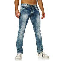 Amica Jeans - Jeans délavé homme Jeans Am9608 bleu