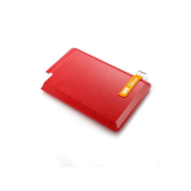 """WE - Disque dur externe 2.5"""" - 120 Go - WESSD120BR - Rouge"""