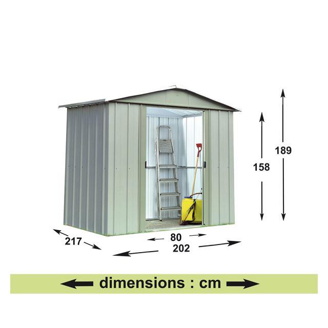 meilleur site web 7b7d7 c0899 Yardmaster - Abri de jardin métal 4,38m² - pas cher Achat ...