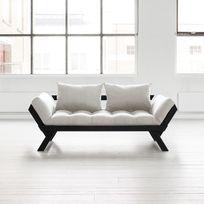 Karup - Canapé convertible en bois noir avec matelas futon Bebop - Naturel