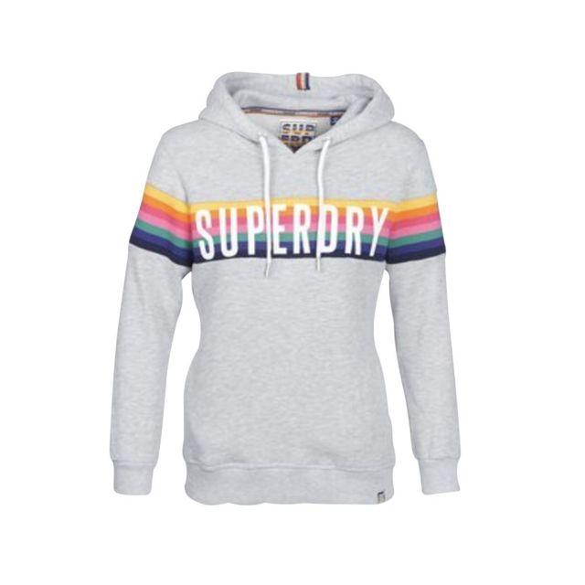 recherche d'officiel haute couture utilisation durable Superdry - Sweat capuche bande multicolore Carly Carnival ...