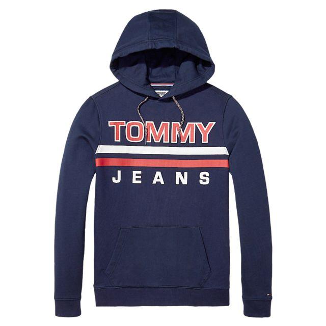 dc5e890d6f5 Tommy hilfiger - Tommy Hilfiger Essential Graphic Sweat Cap Homme - Taille  L - Bleu