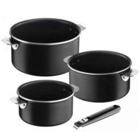 LAGOSTINA - série de 3 casseroles anti-adhésives 16/18/20cm + 1 manche - 012113600003