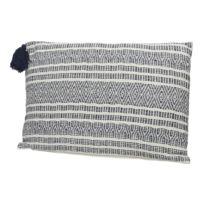 Decoris - Coussin déhoussable avec grand pompon 100% coton motif ethnique Sian - Motif 2
