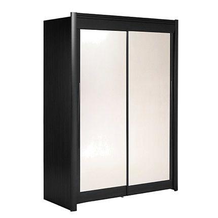 Armoire 157x207x61cm avec portes coulissantes - noir