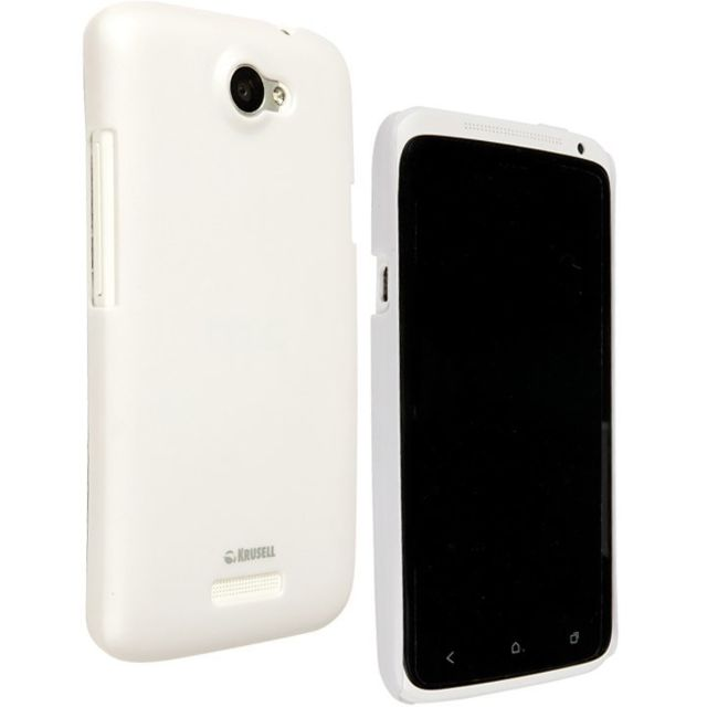 Krussel - Coque arrière Colorcover Krusell blanche pour Htc One X