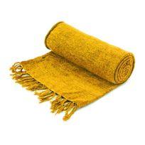 plaid jaune achat plaid jaune pas cher soldes. Black Bedroom Furniture Sets. Home Design Ideas