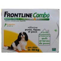 Frontline - Combo - Pipettes Antiparasitaire pour Chien de 2 à 10Kg - 6x0,67ml