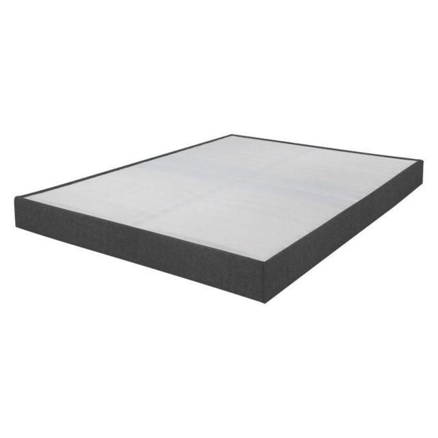 ebac sommier tapissier 160x200 omega gris 2x17 lattes 160cm x 200cm pas cher achat vente. Black Bedroom Furniture Sets. Home Design Ideas