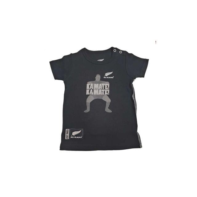 Tee-shirt rugby Haka bébé - All Blakcs