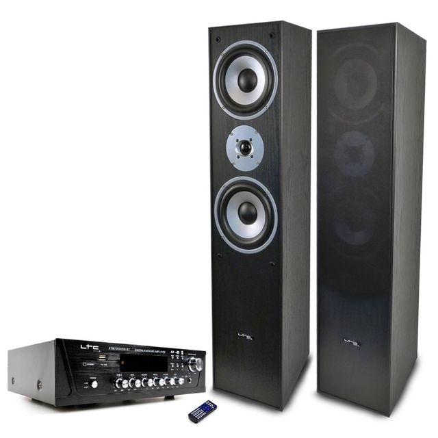 Ltc Paire d'enceintes L766-BL + Ampli Atm-7000USB 2X50W