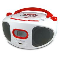 Metronic - Radio Cd-mp3 portable enfant Pirate - Rouge/Blanc
