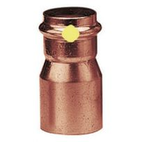 Viega - Réduction cuivre mâle / femelle à sertir Ø 42 Ø 28 spécial Gaz