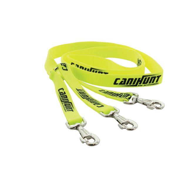Canihunt Laisse tripleur plate Hunter - 1,50 m