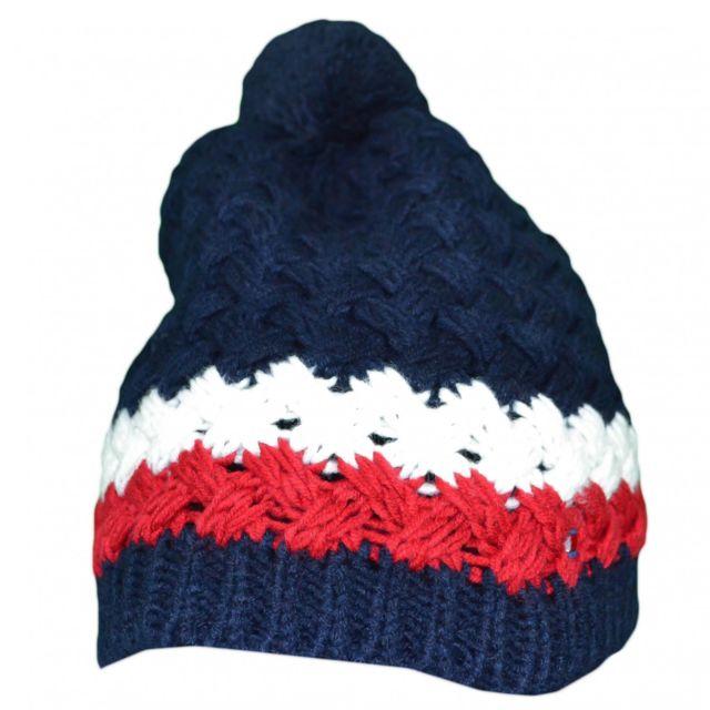 Tommy hilfiger - Bonnet tricoté bleu marine en laine pour homme - pas cher  Achat   Vente Casquettes, bonnets, chapeaux - RueDuCommerce 3f7599b024d