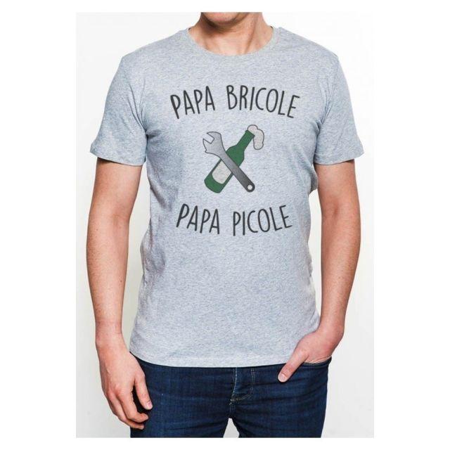 Mygoodprice T-Shirt col Rond Homme Nouveau Papa en Cours de t/él/échargement