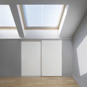 alin a axel kit de 2 portes coulissantes de placard sous combles pas cher achat vente. Black Bedroom Furniture Sets. Home Design Ideas