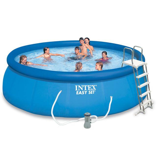 intex piscine autoport e easy set 4 57 x 1 22 m pas cher achat vente piscines. Black Bedroom Furniture Sets. Home Design Ideas