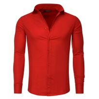 Tazzio - Chemise slim fit homme Tz9 Chemise rouge