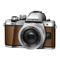 Olympus - Pack Om-d E-m10 Ii Silver + 14-42 Silver Pancake Zoom Ez Edition limitée