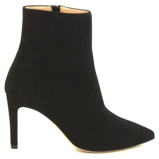 Leonardo Shoes Femme 4998BLACK Noir SuÈDE Bottines