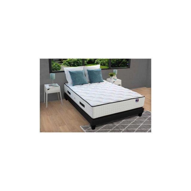 Confort Design Matelas 160x200 - Ressorts - 30 cm - 7 zones - Equilibre - Hotel Grand Confort