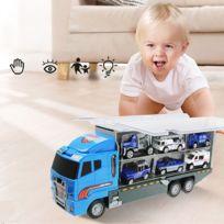 Transporteur camion jouet voiture transporteur comprend 6 voitures en métal jouet pour garçons grand cadeau