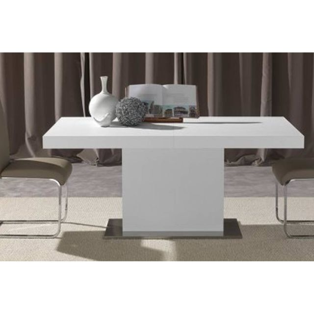 Inside 75 Table repas design extensible Domus blanche