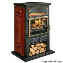 GODIN - poêle à bois 12kw bordeaux - 350104lbor