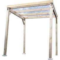 Habrita - Carport en bois autoclavé toit plat couvert